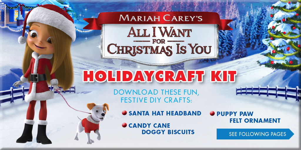 Download Mariah Carey's All I Want For Christmas Is You Holiday Craft Kit