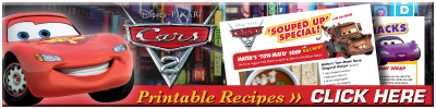 Download Printable Cars 2 Recipes!