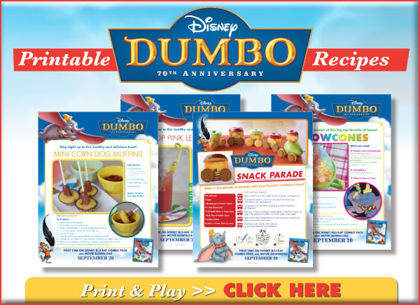 Dumbo 70th Anniversary Printable Recipes