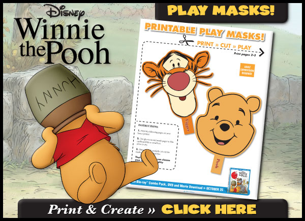 Download Printable Play Masks!